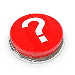 Red Button QUESTION mARK
